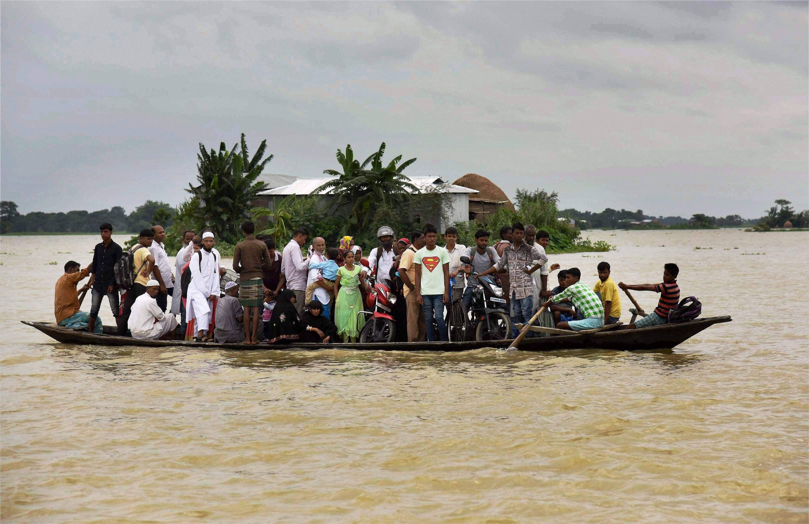 The third wave of flood had hit 15 districts in Assam on Friday. (PTI Image)