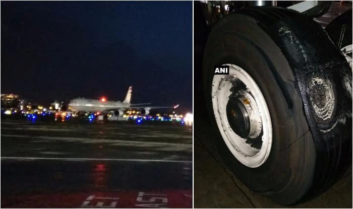 Aircraft tyre bursts, delays flight ops