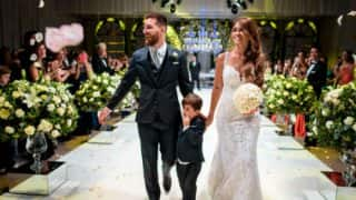 Lionel Messi marries Antonella Roccuzzo: Lovely couple's fairy-tale love story came full-circle! View pics