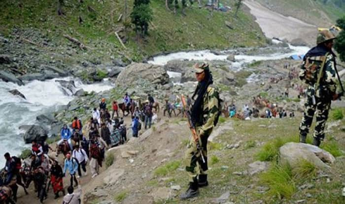 Amarnath Yatra attack: Panthers Party protests, demands Governor's rule