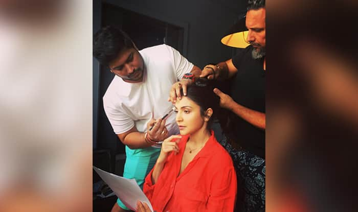 Check pic: Anushka Sharma shoots for Sanjay Dutt biopic in NY!