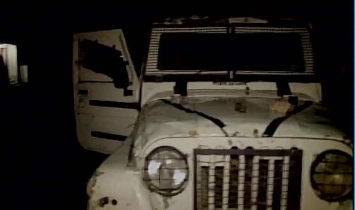 An abandoned vehicle at the sight of the encounter in Anantnag. (Image:ANI)