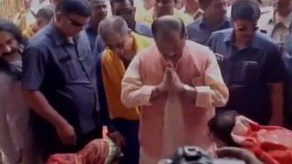 Watch Video: Women Wash Feet of Jharkhand CM Raghubar Das on Guru Purnima