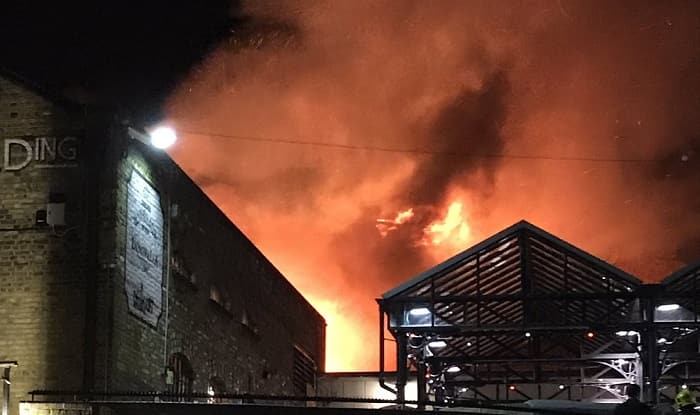 Firefighters battling blaze in London's Camden Market