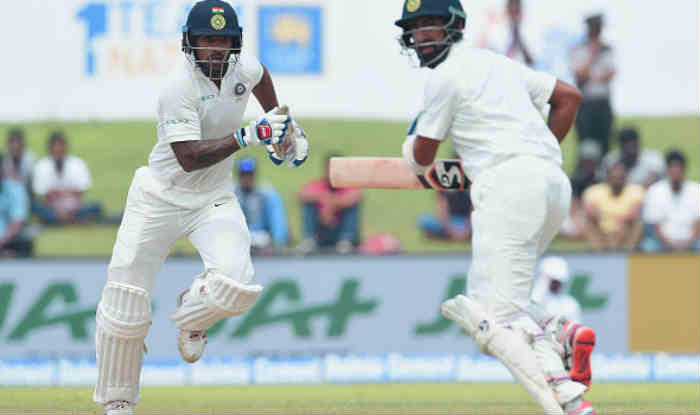Dhawan and Pujara during the first Test