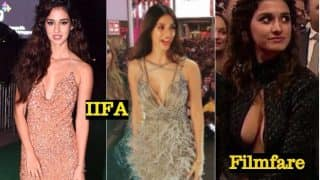 Disha Patani goes 'Safe' with Cleavage-Baring IIFA Awards 2017 Outfits! Hot Indian Beauty Looks Sparkling in Pictures