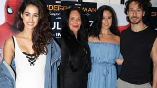 Tiger Shroff And Alleged Girlfriend Disha Patani watch Spider-Man: Homecoming With His Family - View Pics