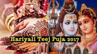 Hariyali Teej Puja 2017 Date: Significance of Shravan Teej Vrat Muhurat Timings Celebrating Union of Lord Shiva and Goddess Parvati