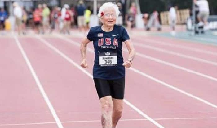 101-year-old BR woman sets 100-meter race record