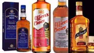 Indian Whiskey Officer's Choice Ranks No. 2 in World's 100 Top-selling Brands: McDowell's and Imperial Blue Also Finds Place in The List