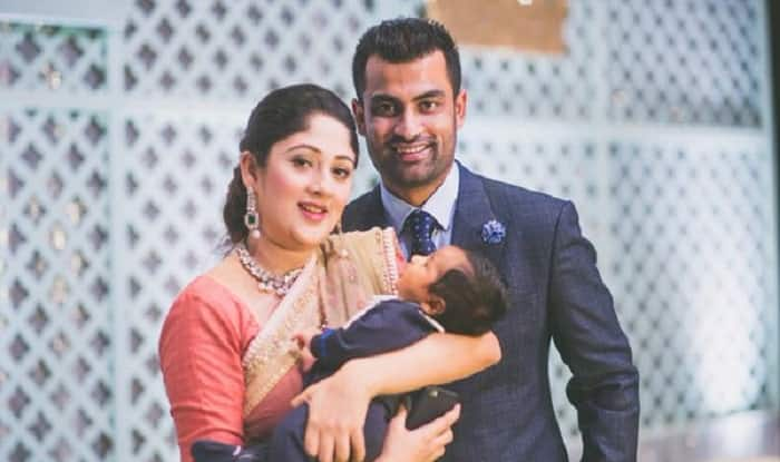 Tamim Iqbal with his wife and daughter