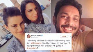Kangana Ranaut Accused of Nepotism by Apurva Asrani! Actress' Sister Rangoli Destroys Him in Six 'Beautiful' Tweets!