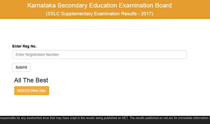 Karnataka Sslc Supplementary Results  Declared Check Results At Official Website Karresults Nic In