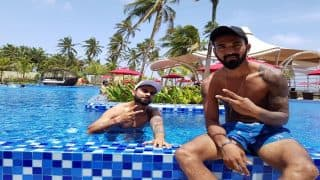 Virat Kohli Enjoys Day Off, Relaxes With KL Rahul in Swimming Pool