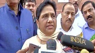 Mayawati Resigns From Rajya Sabha For 'Not Being Allowed to Speak'