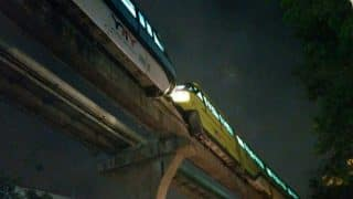 Mumbai: Monorail Rake Stops Working After Power Failure, Another Sent on Same Track to Tow it Away (Watch Video)