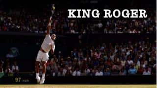 Roger Federer Serves a Hat-Trick of Aces Against Tomas Berdych at 15-40 Down to Leave Wimbledon 2017 Spectators Speechless! Watch Video