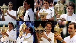 A Look Back at Roger Federer's Eight Wimbledon Titles And Other Stats