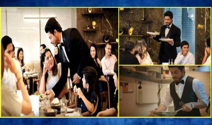 Shah Rukh Khan serving food