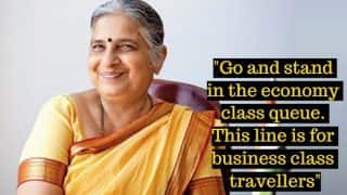Sudha Murthy, Infosys Foundation Chairperson, was Once Called 'Cattle Class' at London's Heathrow Airport! Twitterati Reacts to her Interesting Anecdote