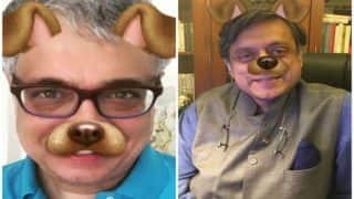 AIB Controversy: Shashi Tharoor, Derek O'Brien Post Snapchat Dog-Filtered Pictures