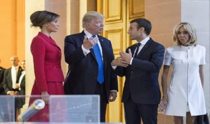 Trump praises Beauty of French First Lady