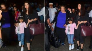 Aishwarya Rai Bachchan Returns From Her Family Vacation Along With Daughter Aaradhya- View HQ Pics