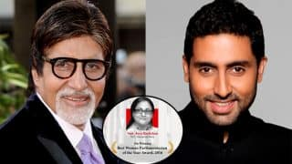 Father-Son Duo, Amitabh & Abhishek Bachchan Express Their Pride On Social Media For Jaya Bachchan As She Won The Best Parliamentarian Award
