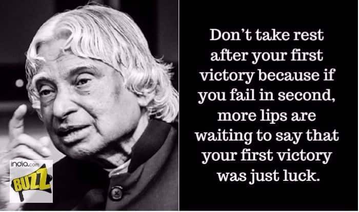 Dr Apj Abdul Kalam S 2nd Death Anniversary Wise Quotes By People S