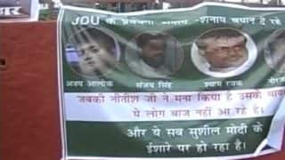 Posters by RJD Supporters in Patna Target JD(U) Leaders For 'Speaking on Behest of Sushil Modi'
