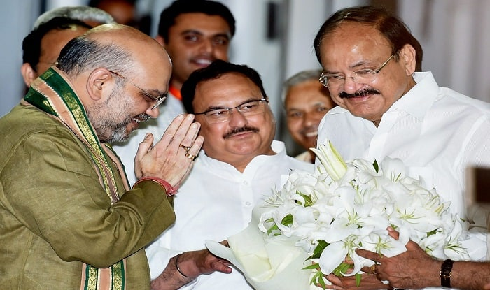 In his early career, M. Venkaiah Naidu (right) was a member of the RSS and ABVP. (Image:PTI)