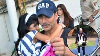 Ouch! Nitara Just Kicked Daddy Akshay Kumar - Watch Video