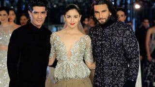 Alia Bhatt and Ranveer Singh Sizzle On The Ramp for Manish Malhotra at the India Couture Week 2017