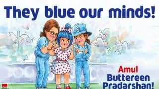 Amul Hails Indian Women's Cricket Team's Performance At The ICC Women's World Cup 2017 With A Cartoon That Says 'They Blue Our Minds'!