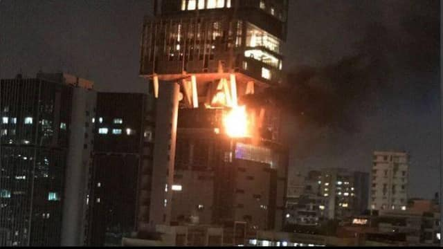 Mukesh Ambani's house Antilia catches fire, Mumbai fire brigade douses it