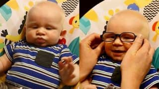 Priceless Reaction of Baby With Albinism Seeing Mother For First Time With Glasses is Going Viral (Watch Video)