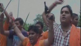 Bajrang Dal, VHP Protest in Agra Against Amarnath Yatra Terror Attack, Brandish Pistols, Swords: Watch Video