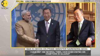 पूर्व यूएन महासचिव बान की-मून ने की मोदी की तारीफ- 'वैश्विक स्तर पर कर रहे अगुवाई'