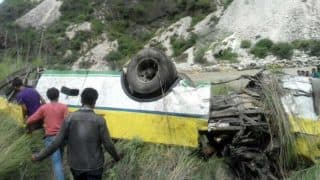Himachal Pradesh: 28 Dead After Bus Enroute Solan Falls Off Gorge; Rescue Operation Underway
