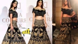 Disha Patani was Showstopper at Manav Gangwani's Couture in ICW 2017! See Pictures of Hot Actress From the Ramp