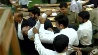Jammu and Kashmir Assembly Witnesses Ruckus Over GST Bill, Engineer Rashid Marshalled Out