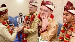 UK's first Muslim gay wedding takes place and the grooms' faces tell the love they share (See Pictures)