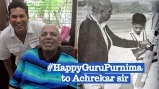 Sachin Tendulkar wishes Guru Purnima 2017 to Coach Ramakant Achrekar by Tweeting an Old Photograph from Early Days!