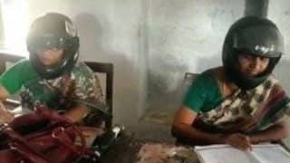 Telangana Teachers Wear Helmets to School Due to Dilapidated Condition of the Government School