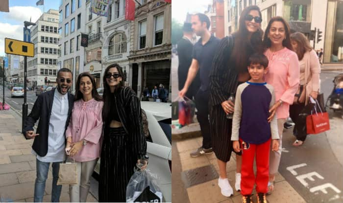 When Sonam Kapoor and Anand Ahuja bumped into Juhi Chawla in London!