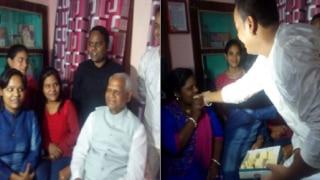 रामनाथ कोविंद के परिवार में खुशी का माहौल, घी के दिये जले, मिठाइयां बंटीं