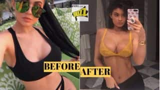 Kylie Jenner Breast Implants Controversy: Sexy Model Seductively Poses in Yellow Bra, Gets Trolled for her 'Boob Job'