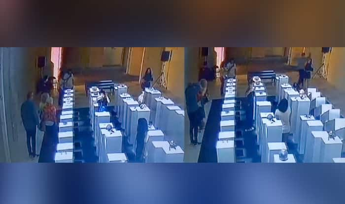 Woman destroys $200000 worth of art while taking a selfie; watch video