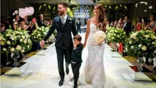 Lionel Messi marries childhood sweetheart Antonella Roccuzzo, check pics from the 'wedding of the century'