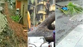Monsoon Impact on Mumbai: Landslide in Bandra, Tree Falls on DD Anchor, Pot-holes Escalate on Roads; Residents Blame BMC For Rain Havoc